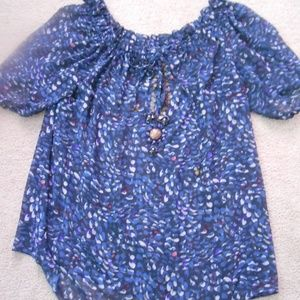 Moda International Womens SS Tunic Top Size L GC